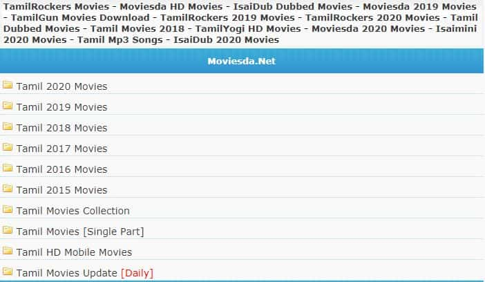 Moviesda 2020 New Link: Free Download Tamil Movies in HD Quality